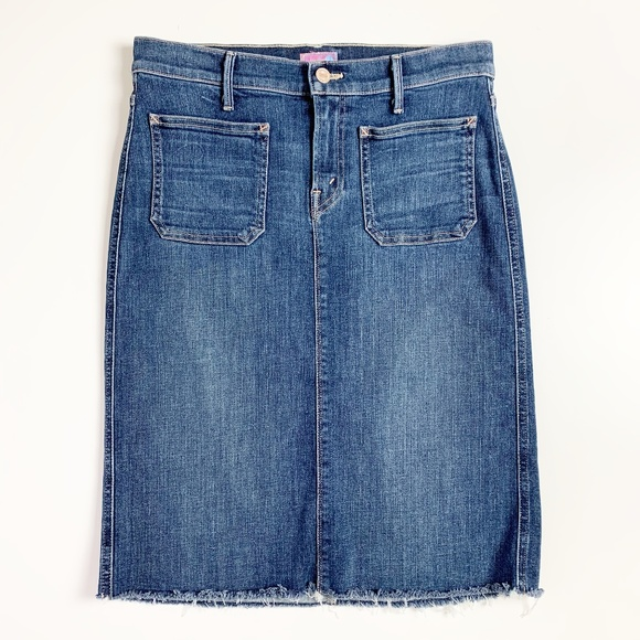 MOTHER Dresses & Skirts - MOTHER High Waisted Patchie Jean Skirt Girl Crush
